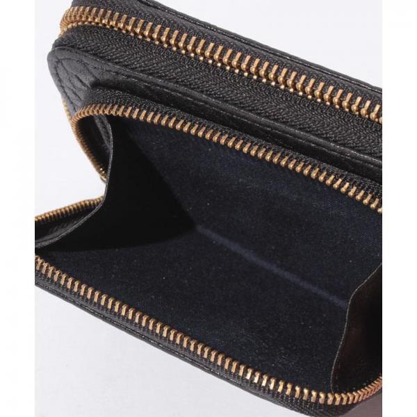 ペルケ perche / 厚口シープタッセル付き二つ折り財布