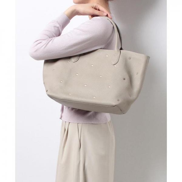 ペルケ perche / 牛革ドット刺繍トートバッグ