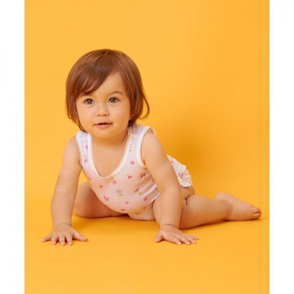 5%OFFクーポン対象商品 ノースリーブロンパース肌着(女の子/メッシュ)ノ クーポンコード:V6DZHN5