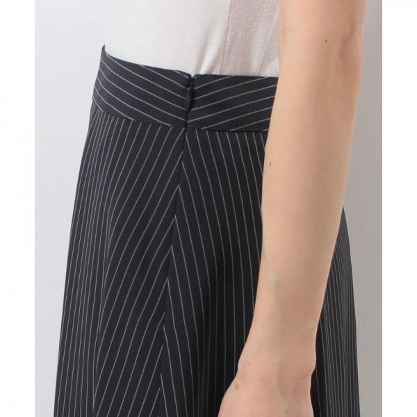 【ウォッシャブル】プルエラストライプ タックAラインスカート