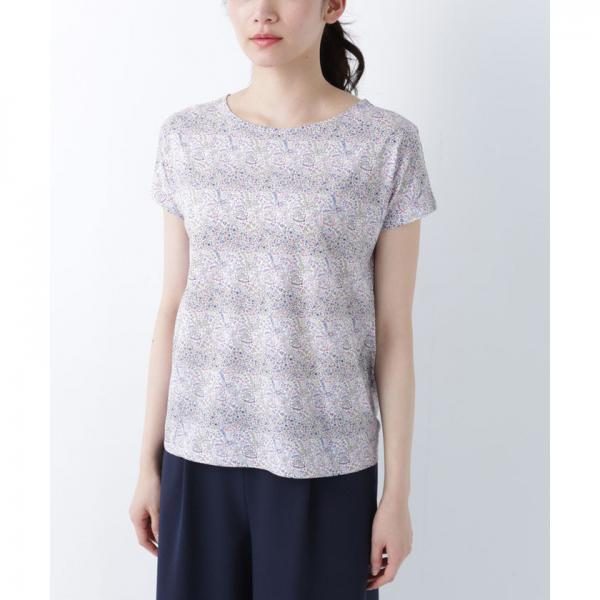【リバティプリント】フレンチスリーブTシャツ(コットン100%)