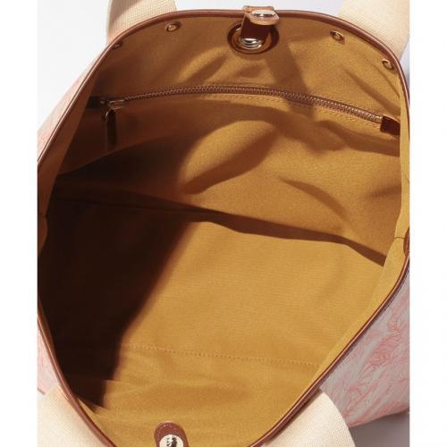 【日本製】トロピカル柄PVC加工・リバーシブルA4トートバッグ
