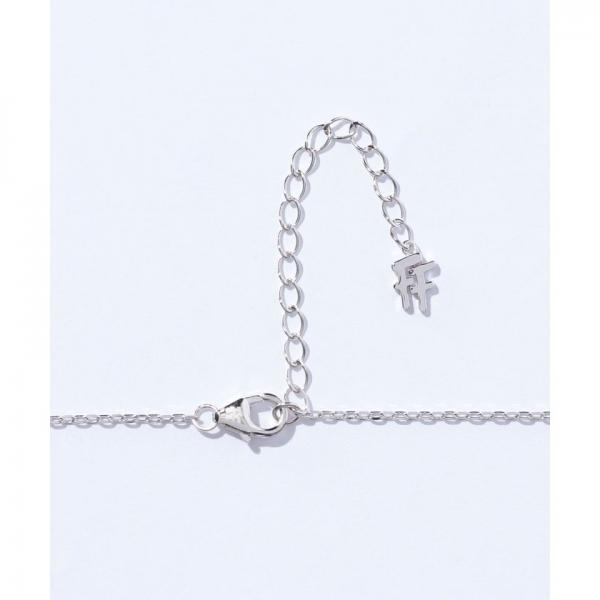 FASHIONABLY SILVER BAMBOO オーバルネックレス