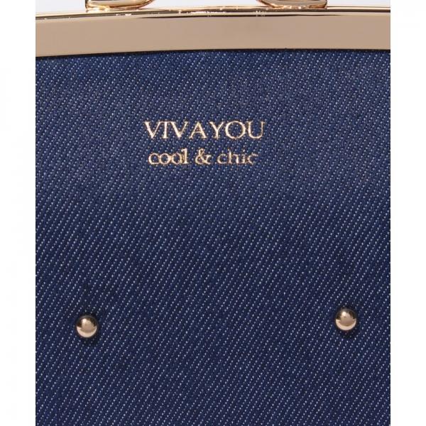 【VIVAYOU ビバユー】スタッズ使いがま口長財布