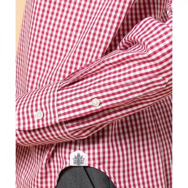 ギンガムチェッククレリックシャツ
