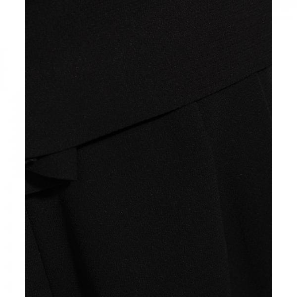 【夏物・サマーブラックフォーマル・喪服・礼服・葬式・卒業式】ワイドパンツのサマーフォーマルセットスーツ(アンサンブル)