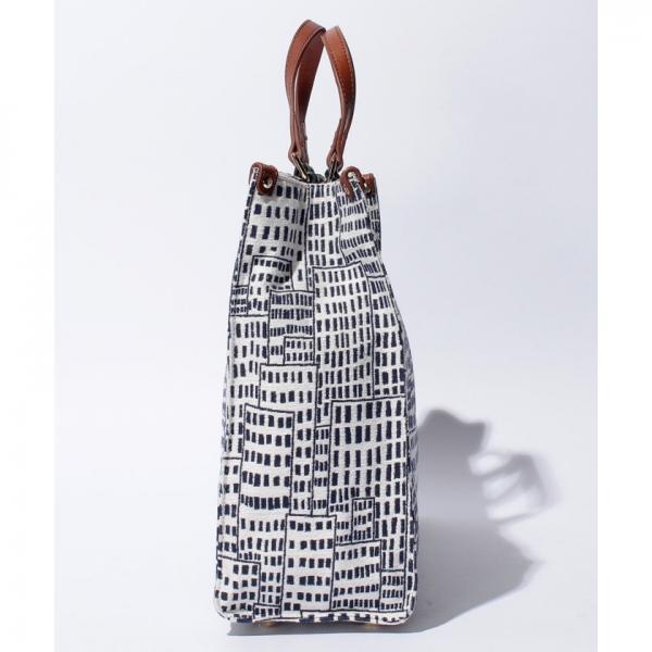 ハウス柄ジャガード織り・2WAYトートバッグ