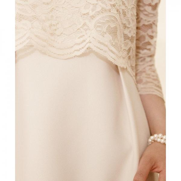 【結婚式・お呼ばれ対応】クラシカルレースドレス