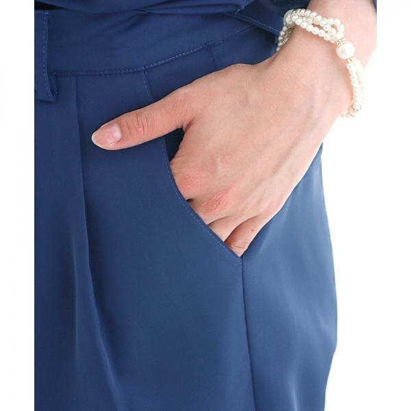 【結婚式・お呼ばれ対応】カシュクールセットアップパンツドレス
