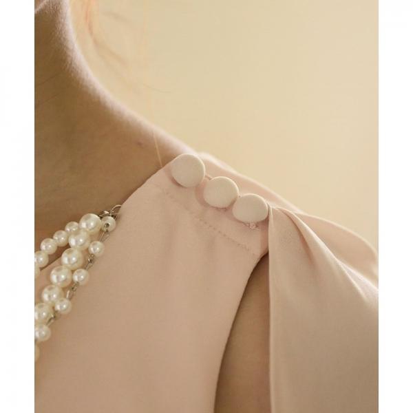 【結婚式・お呼ばれ対応】バイカラー ドレス シフォン ワンピース