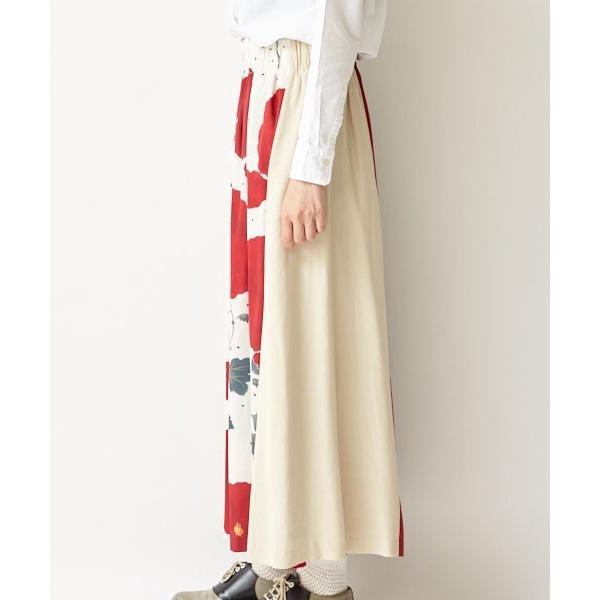 【ふりふオリジナルテキスタイル】切替ロングフレアスカート