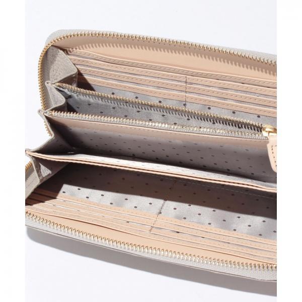 ペルケ perche / 牛革ドット刺繍ラウンド長財布