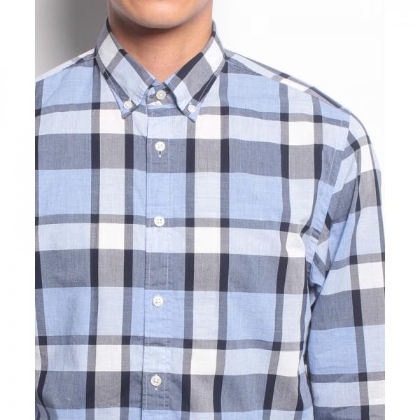 NFコットンチェックシャツ