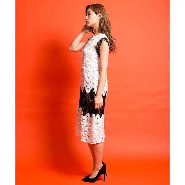 スカラレースワンピース[DRESS/ドレス]