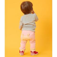 裾レッグウォーマ風ベビーパンツ(70~90cm)