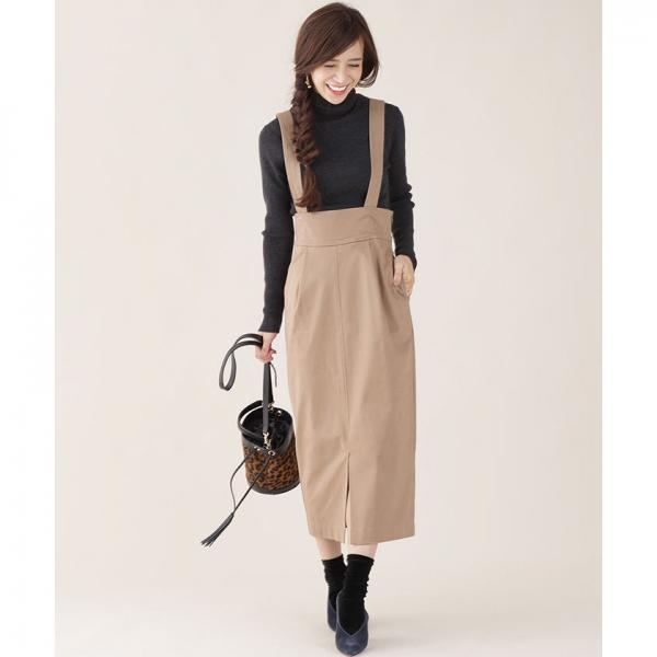 【新色追加】ハイウエストサスペンダースカート