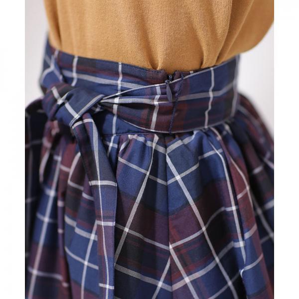 【InRedムック本 掲載】チェックギャザースカート