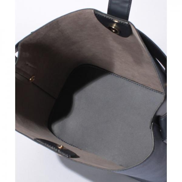 カシュカシュ cachecache / 丸金具ポイントナナメ切り替えショルダーバッグ