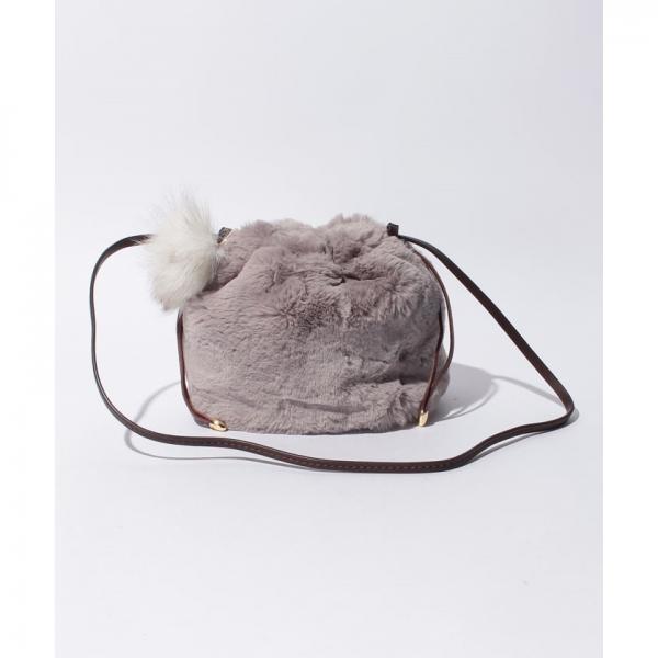 カカトゥ kakatoo / エコファー巾着ショルダーバッグ