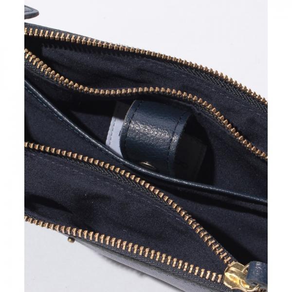 ペルケ ラボ perche labo / 山羊革シュリンク型押しスマホポシェットショルダーバッグ