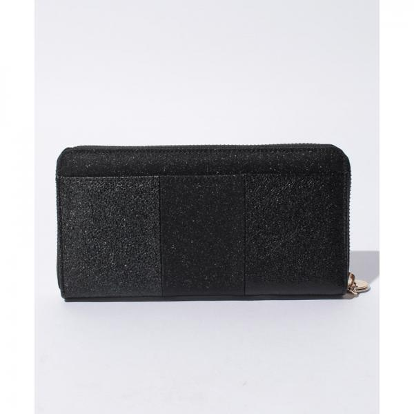 【VIVAYOU ビバユー】メタリック合皮ラウンドジッパー長財布