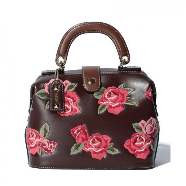 【VIVAYOU ビバユー】バラ刺繍口枠2wayバッグ