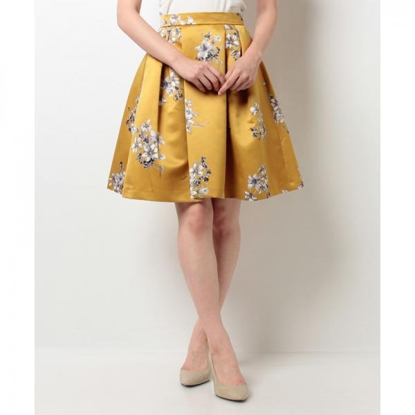 オリジナルリリーブーケ柄スカート