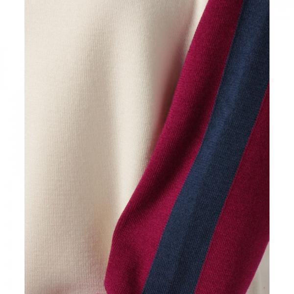 『MadeinFrance』カラーブロック袖ニット(長袖)