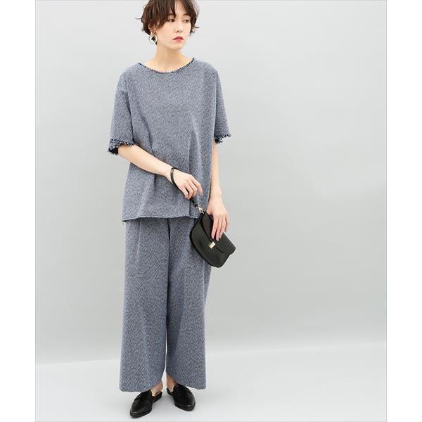【セットアップ対応商品】刺子ワイドパンツ