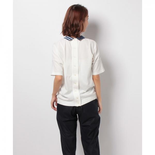 背中ボタンルーズフィットポロシャツ(半袖)