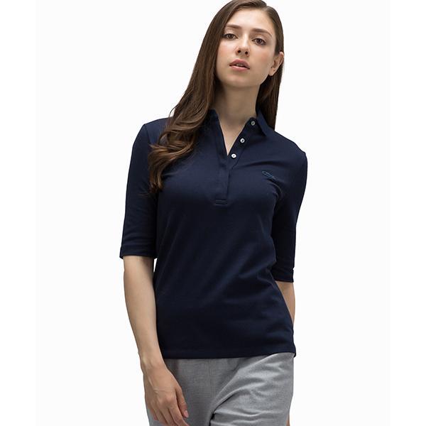スリムフィットポロシャツ(五分袖)