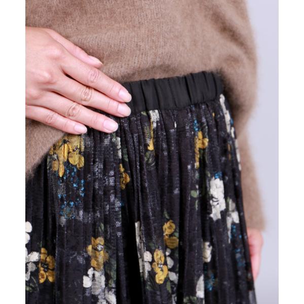 レースラップ風スカート
