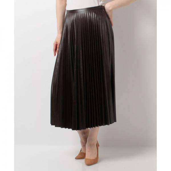 【BEATRICE/ベアトリス】コーティングプリーツスカート
