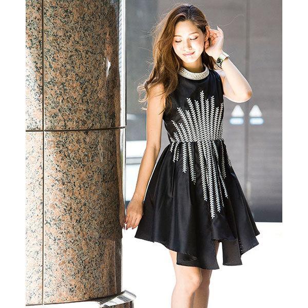 リーフ刺繍ワンピース[DRESS/ドレス]