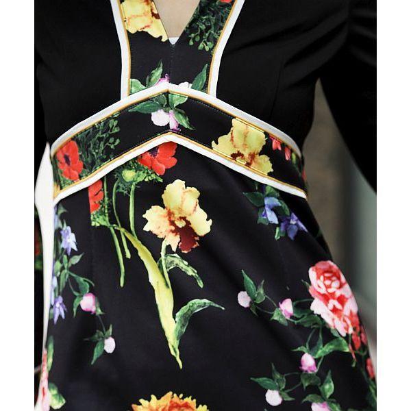 パネルフラワーワンピース[DRESS/ドレス]