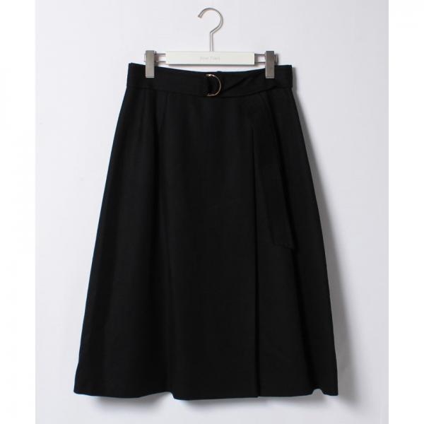 ラップ風ウールジョーゼットスカート