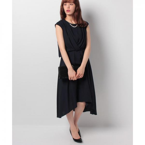 裾イレギュラーデザインドレス(7L04‐0831005)