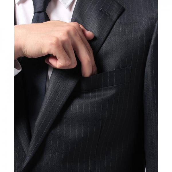 ブライトツイルストライプ2釦スーツ(総裏)AWS