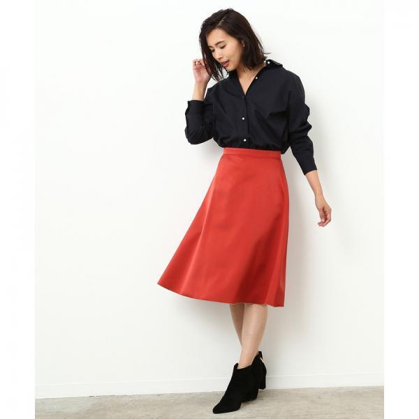 【トールサイズ】リバーシブルフレアスカート