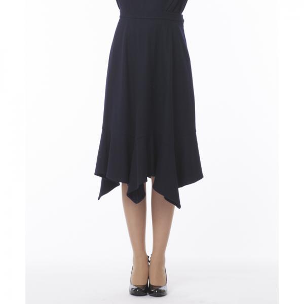 【セットアップ対応商品】圧縮ニットイレギュラーヘムフレアースカート
