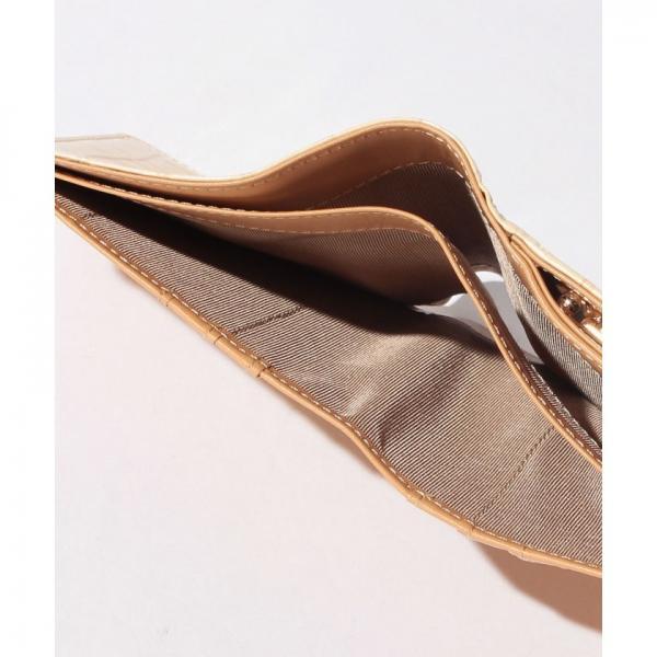 エナメルクロコ型押し・がま口折り財布