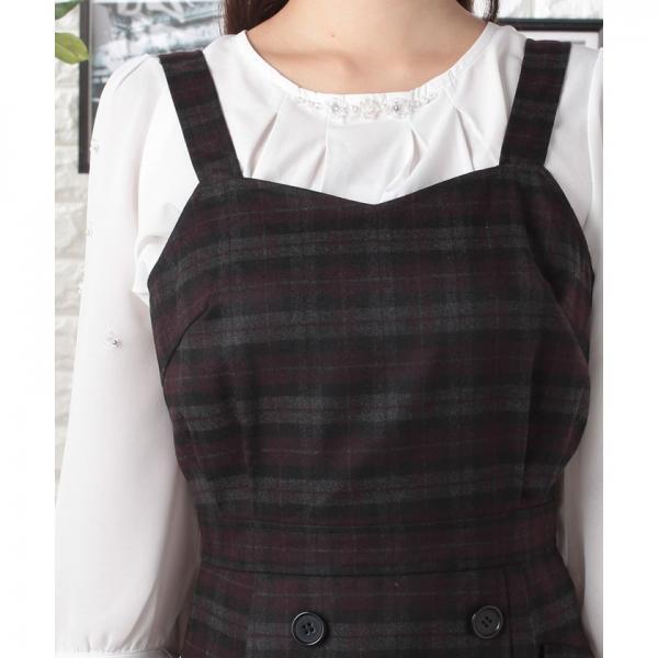 チェックジャンパースカート(7R05-09015)