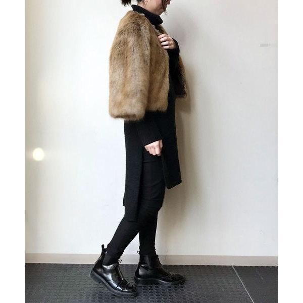 【MORE 2月号掲載】フェイクファーショートジャケット
