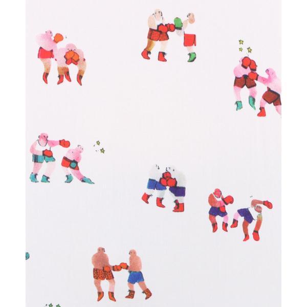 『BLEU TANGO』ニット×水彩画タッチ プルオーバー