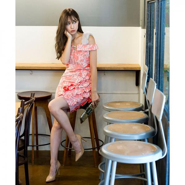 アシメフリルワンピース[DRESS/ドレス]