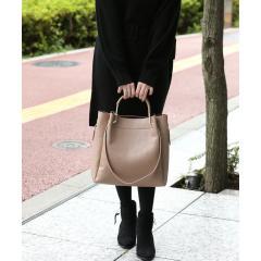 【2WAY】ポーチ付き変形ハンドルトートバッグ