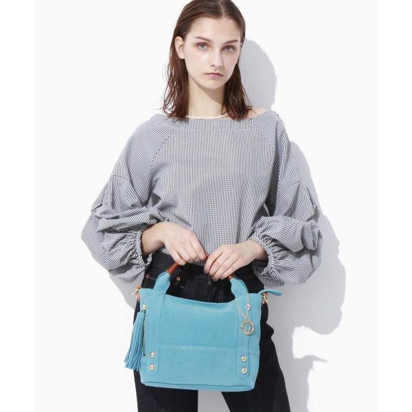 【WEB限定】タッセル付きスエード・2wayミニトートバッグ
