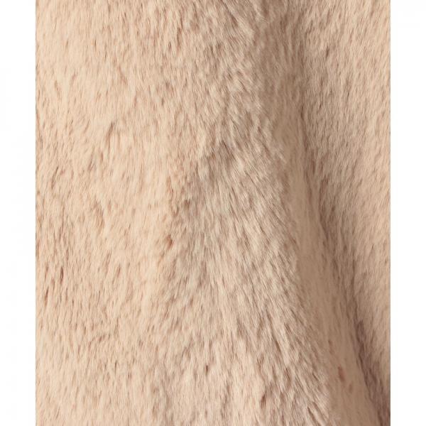 カラーフェイクファー ロングコート