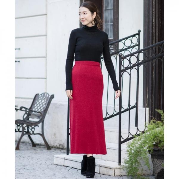 【セットアップ対応商品】7GGアンゴラ混ニットロングスカート
