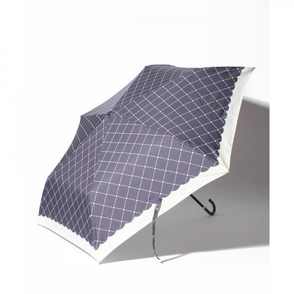 ハートチェック柄折りたたみ傘